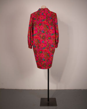 Yves Saint Laurent Rive Gauche rainbow paisley wool sheath dress