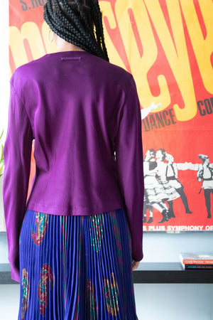 Jean Paul Gaultier deep purple long sleeve top