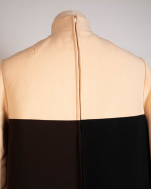 Norman Norell for Bonwit Teller colorblock wool couture dress
