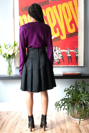 Patrick Kelly black pleated skirt