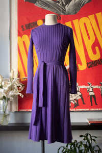 Jean Patou purple wool a-line dress