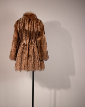 Erika Schon brown fitch fur coat