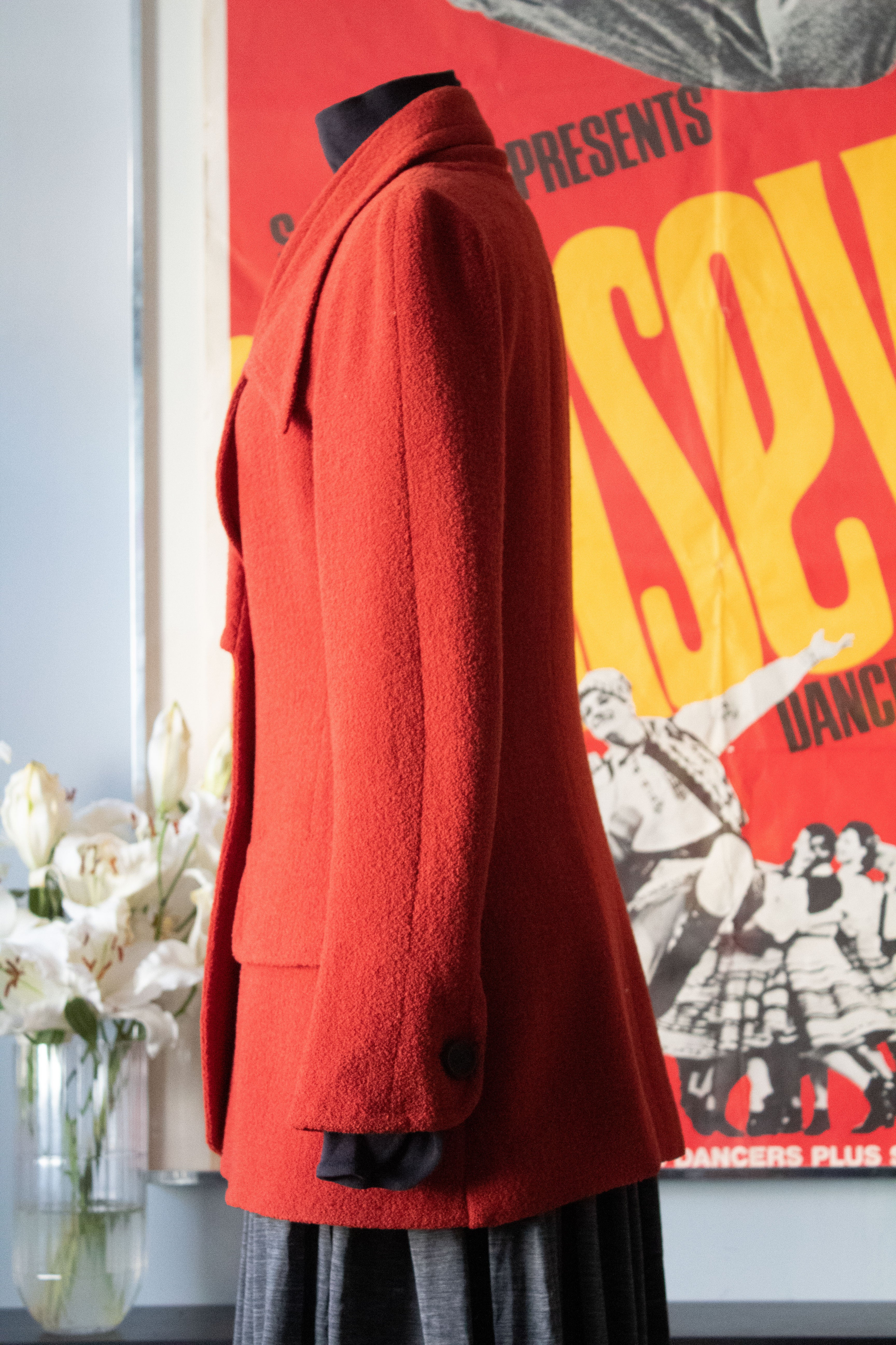 Karl Lagerfeld Burnt Orange wool jacket