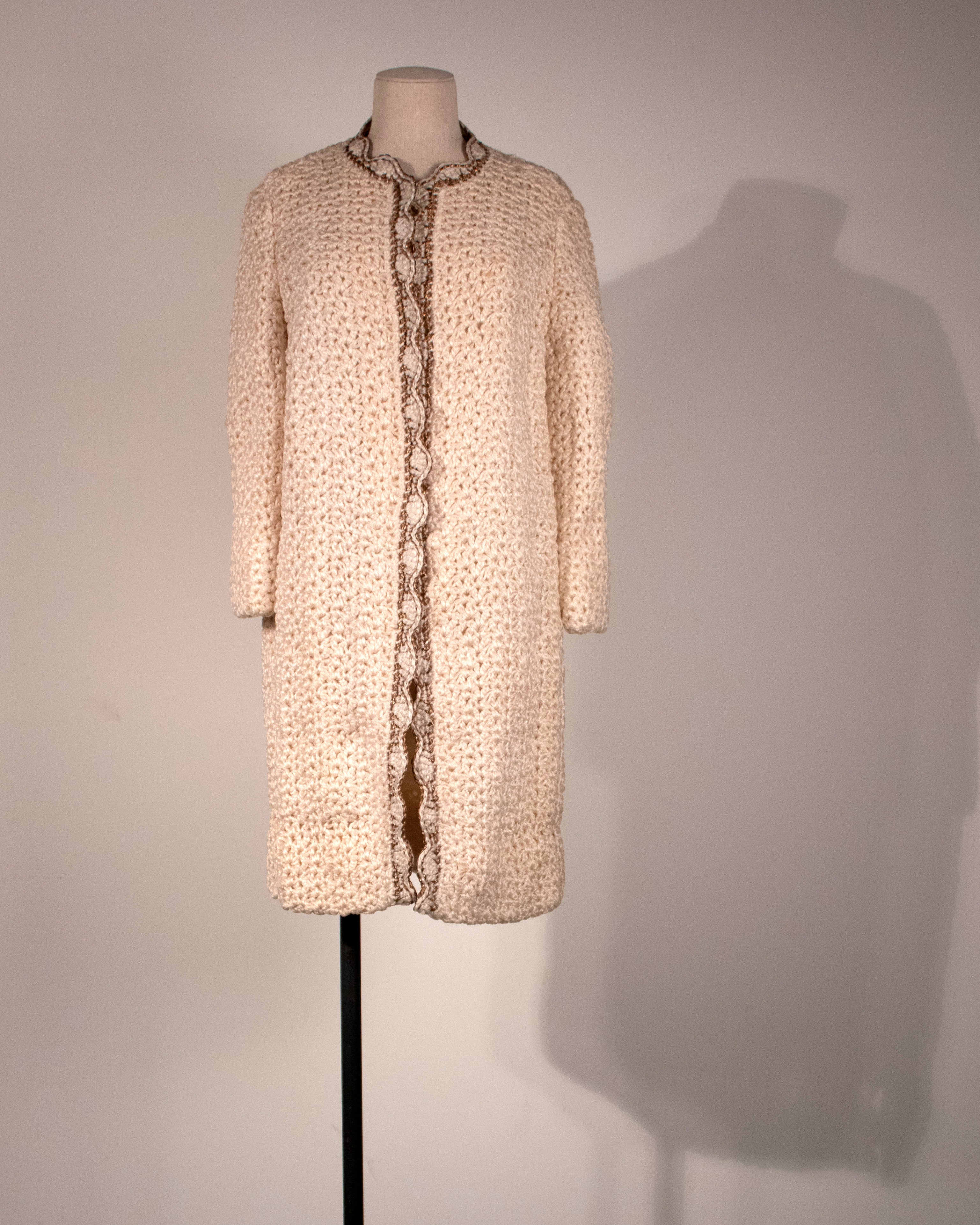 Christian Dior Colifichets cream knotted jacket
