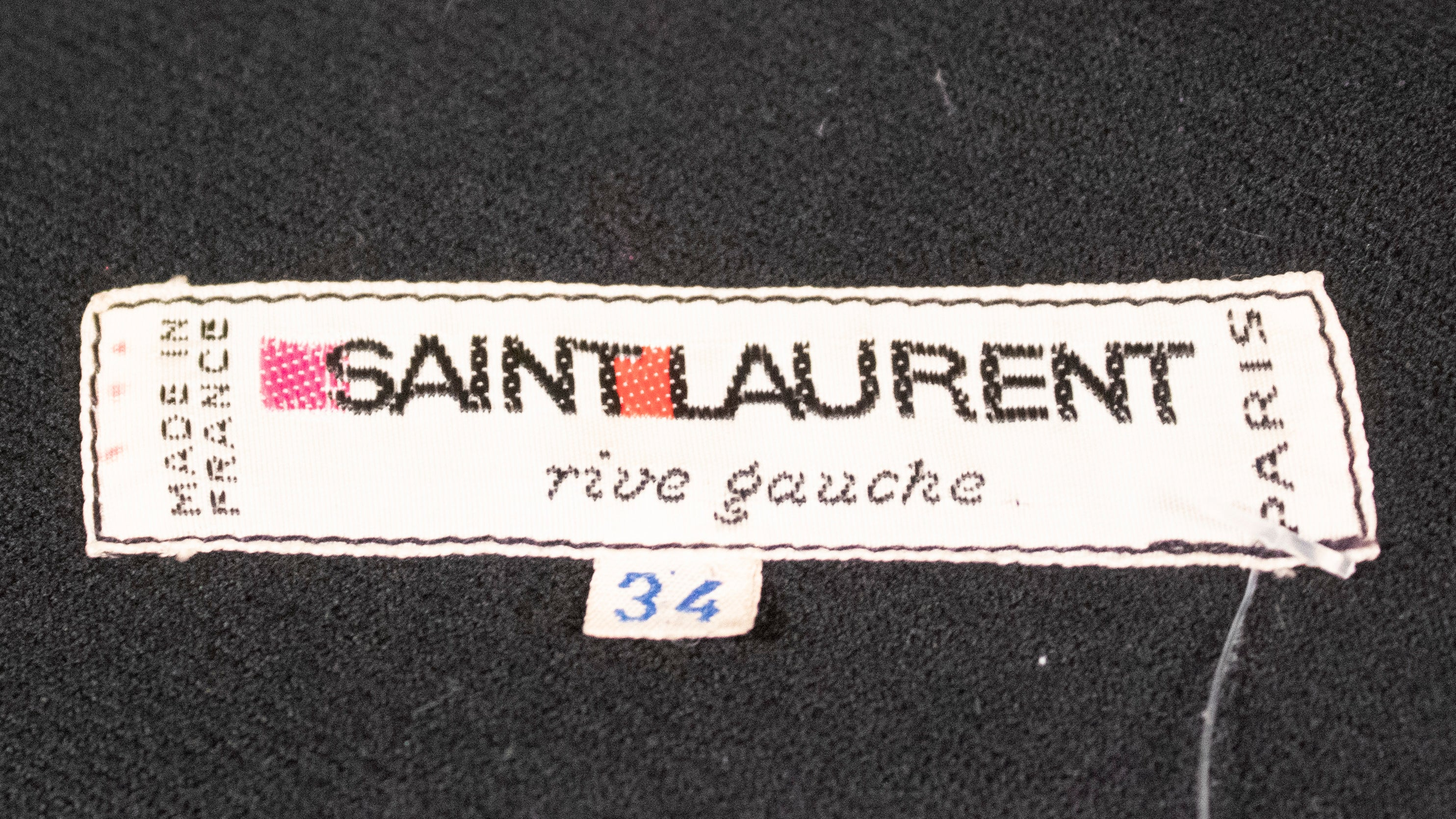 Saint Laurent Rive Gauche black wool popover