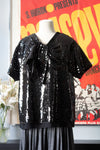 Marc Jacobs black sequin top
