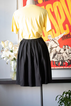 Jean Paul Gaultier black wool pleated skirt