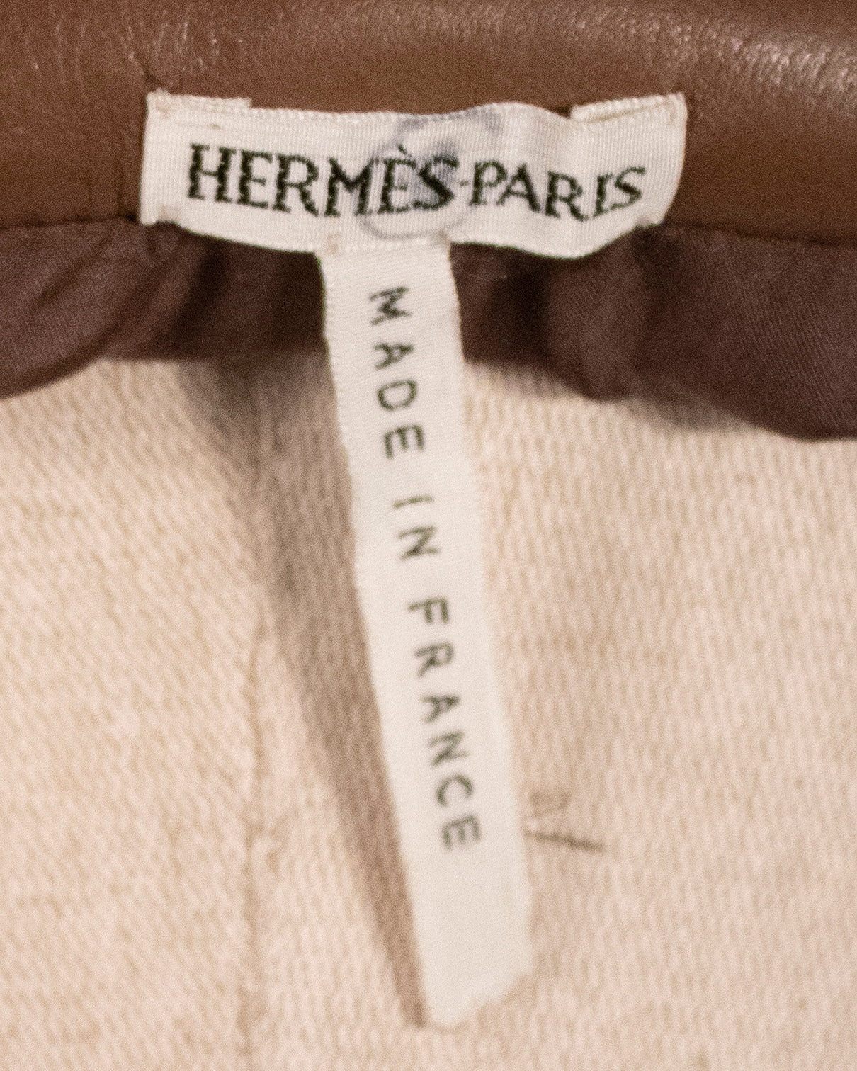 Margiela for Hermès brown suede trousers