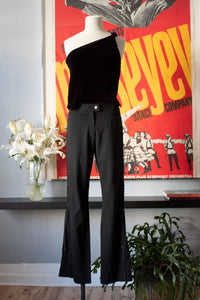 Christian Dior black wool blend pant