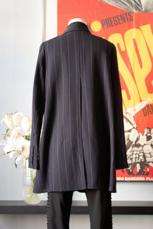 Karl Lagerfeld navy blue pin-striped jacket
