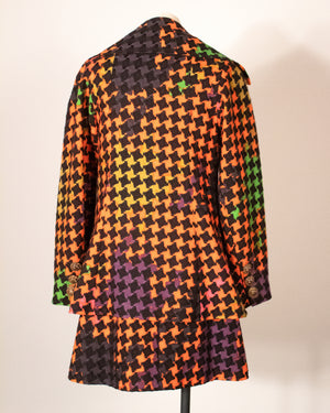 Christian Lacroix multicolor wool tweed ensemble
