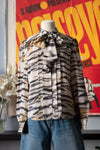 Class by Roberto Cavalli animal print silk blouse