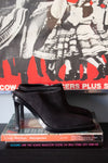 Ann Demeulemeester black leather mule shoes