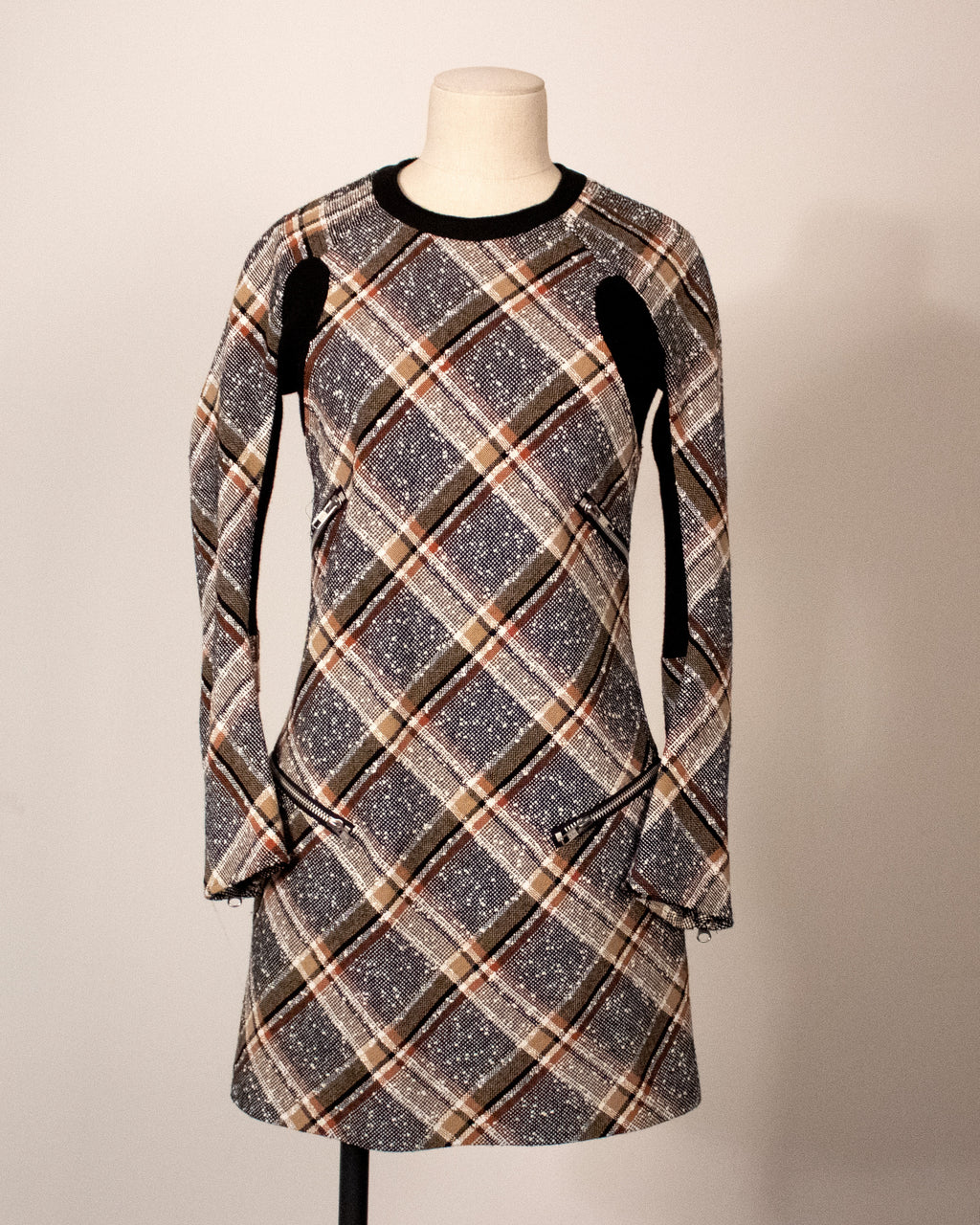 Junya Watanabe plaid wool mini dress