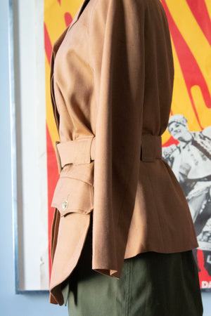 Christian Lacroix brown belted safari jacket