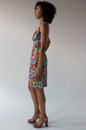 Suzy Perette for Lord & Taylor multicolor butterfly print shift dress