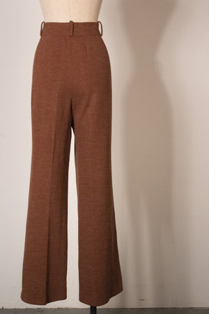 Christian Dior Couture brown wool jersey pant suit