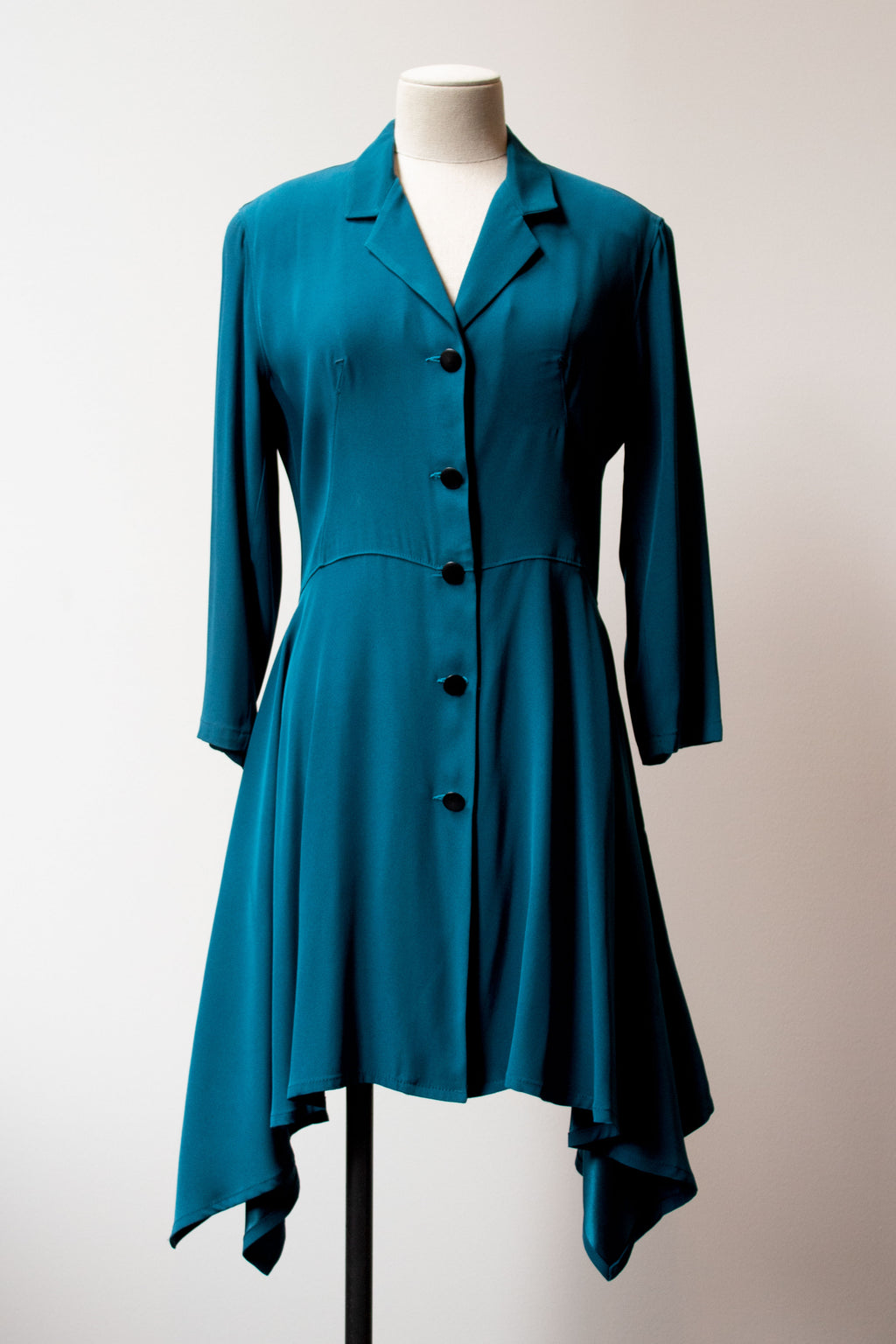 Jean Paul Gaultier teal shirt dress