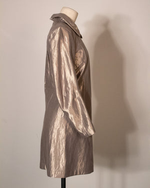 Junya Watanabe metallic gold rayon  shift dress