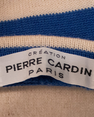 Creation Pierre Cardin Paris blue wool blend sweater
