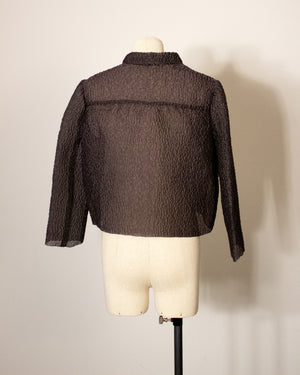 Prada grey crinkled jacket