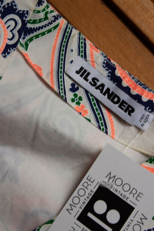Jil Sander by Raf Simons paisley cotton dress