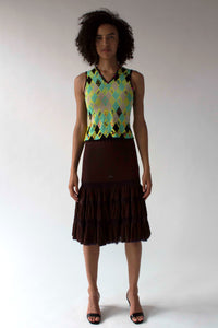 Vintage Bazaar by Christian Lacroix multicolor knit tank