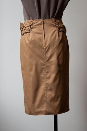 Yves Saint Laurent by Tom Ford beige cotton skirt