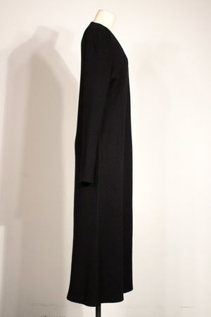 Karl Lagerfeld for Neiman Marcus black wool knit maxi dress
