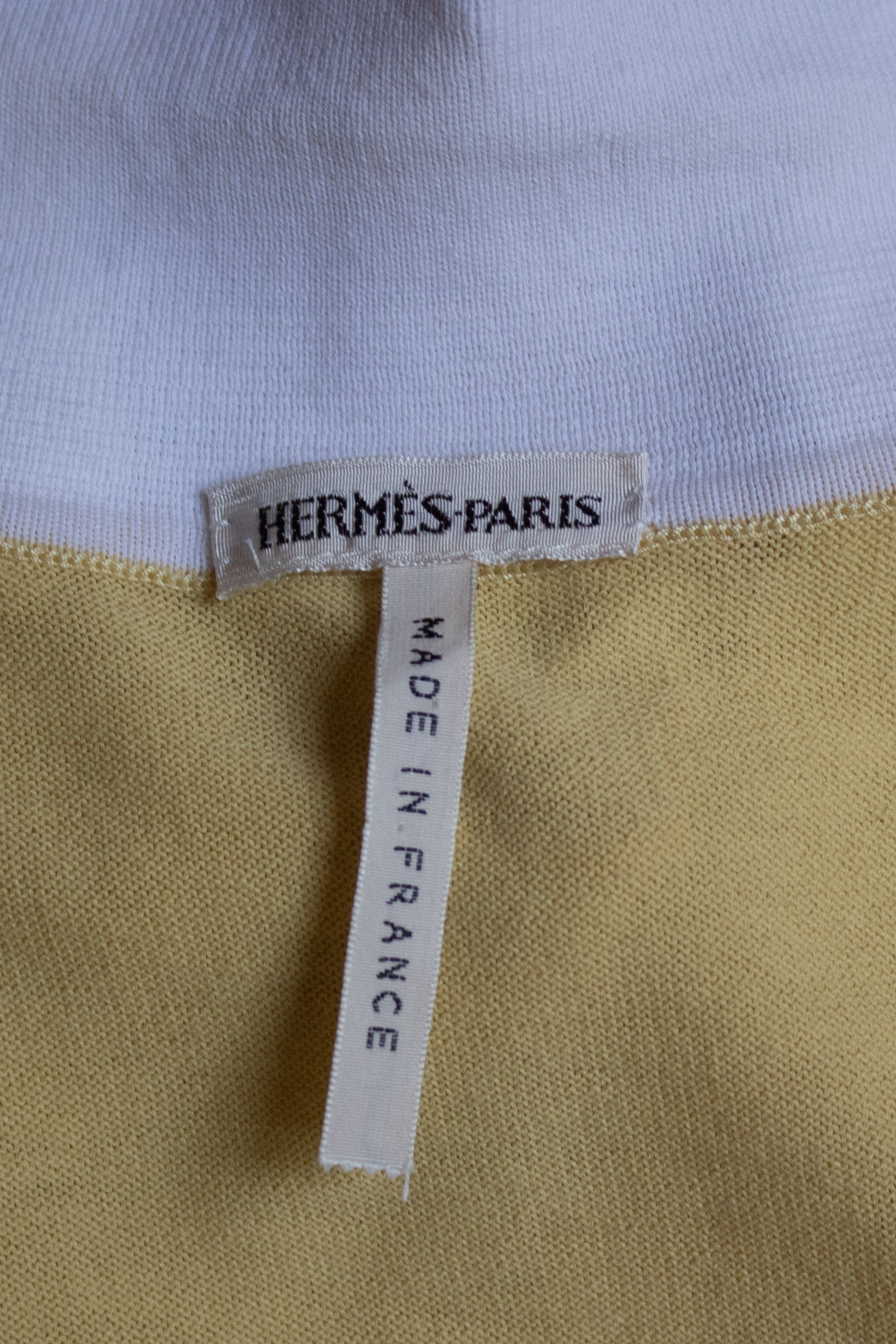 Hermes by Martin Margiela yellow cotton sleeveless knit