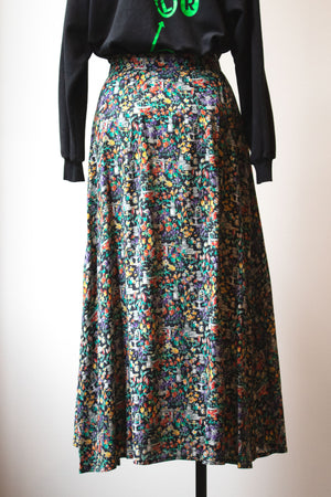 Giorgio Armani multicolor viscose printed maxi skirt