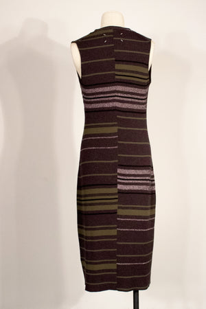 Maison Martin Margiela multicolor wool knit midi dress