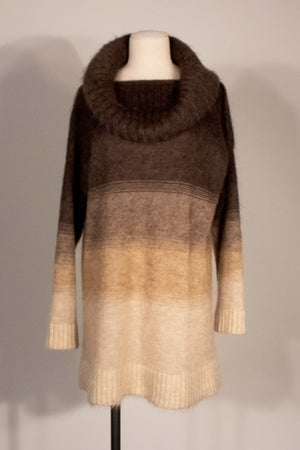 Jean Paul Gaultier brown mohair tunic sweater