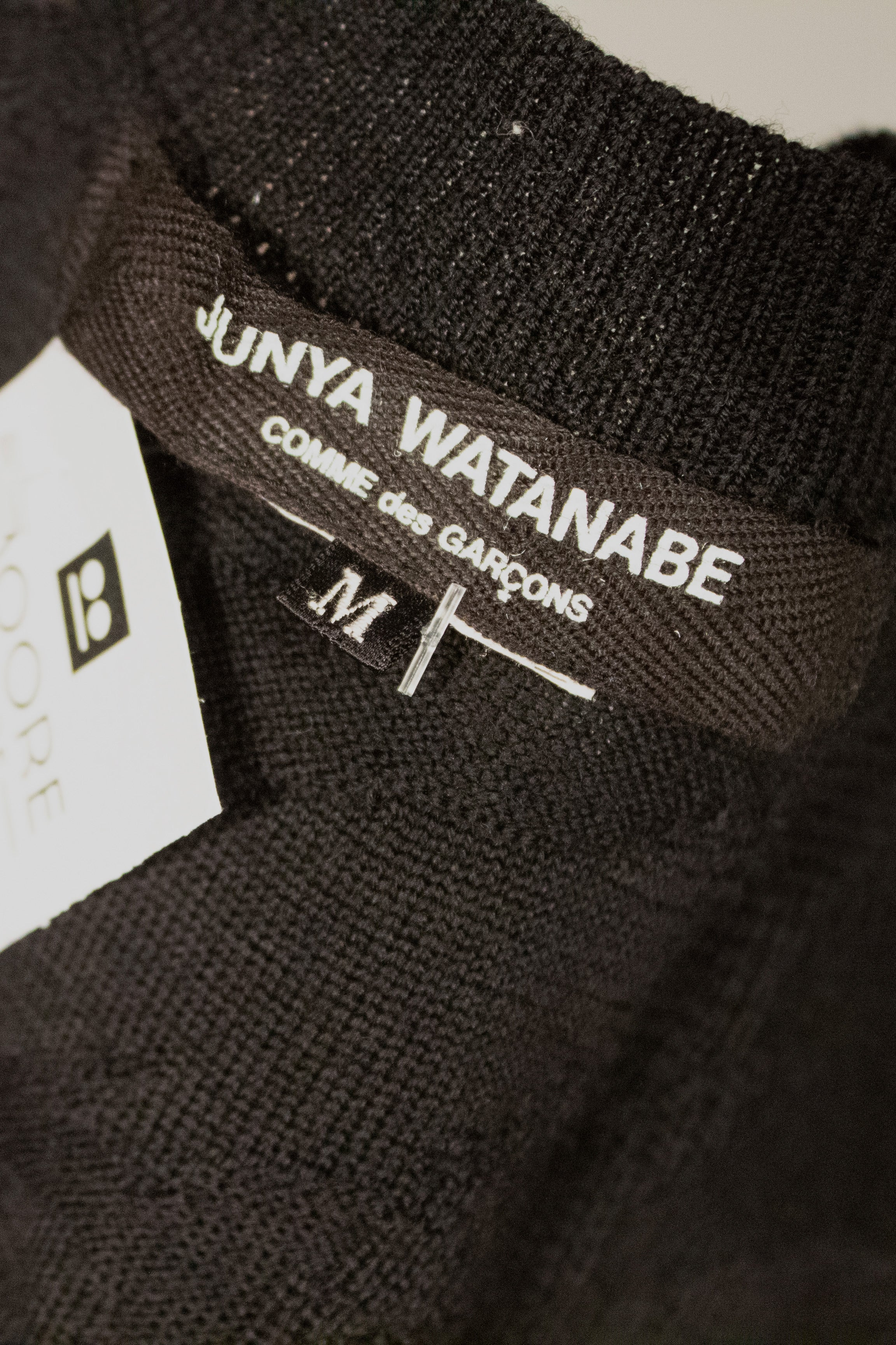 Junya Watanabe black loose knit tank dress
