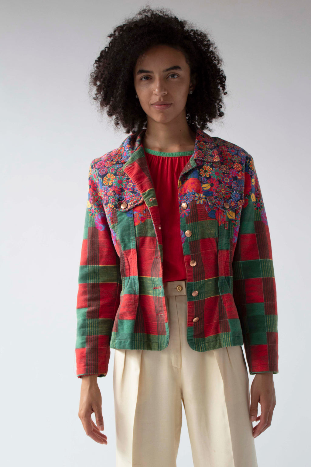 Kenzo Jeans multicolor brushed cotton jacket