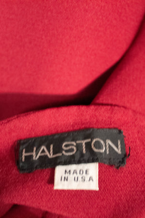 Halston berry wool jersey skirt suit