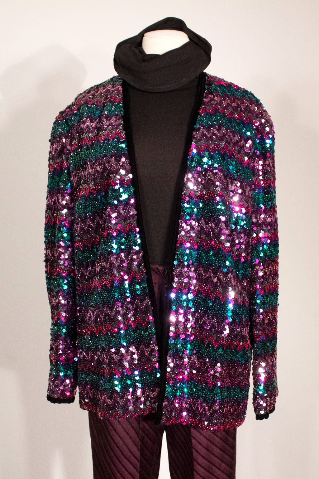 Unmarked vintage multi color sequin jacket