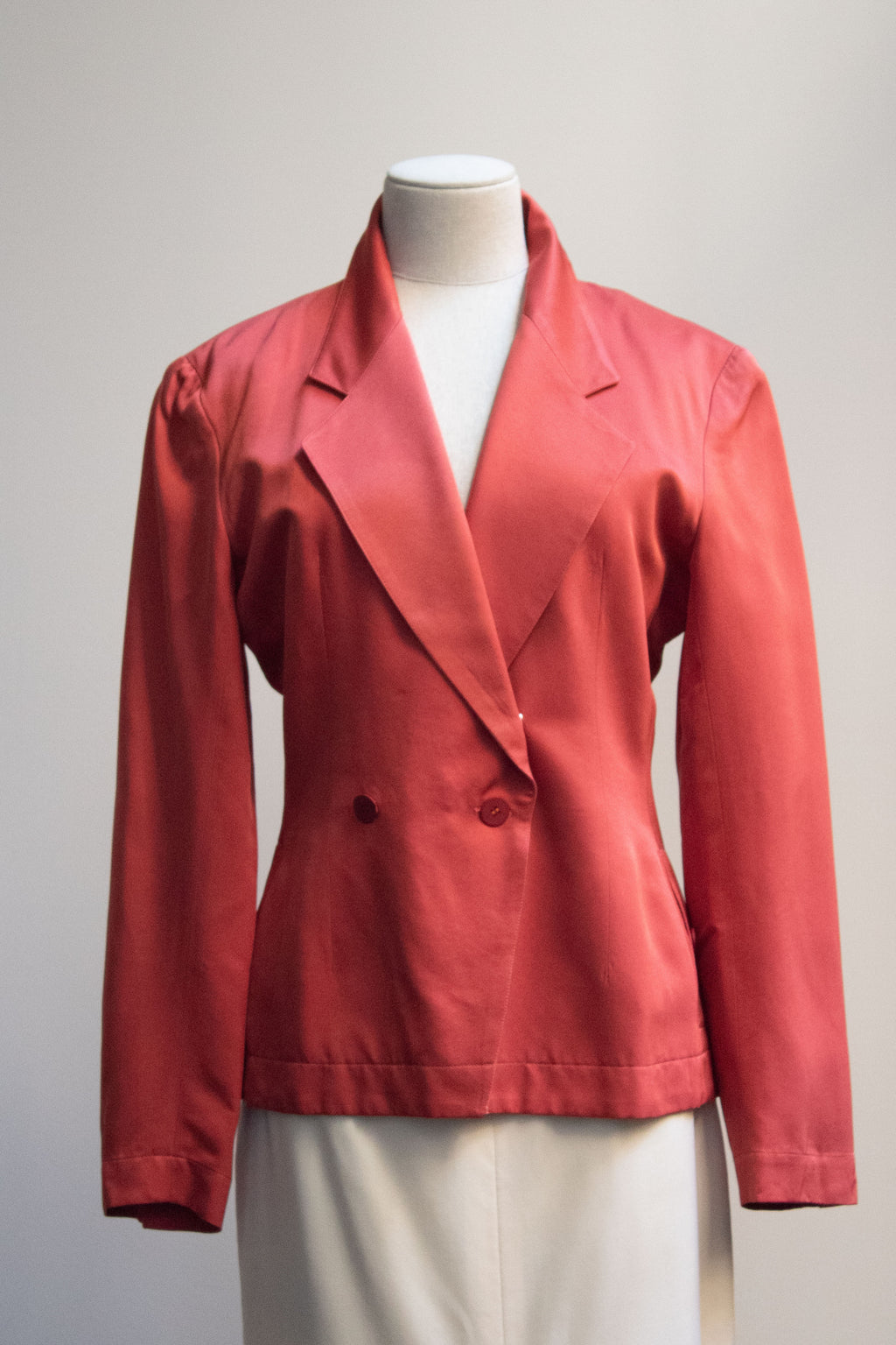 Alaia coral double breasted blazer
