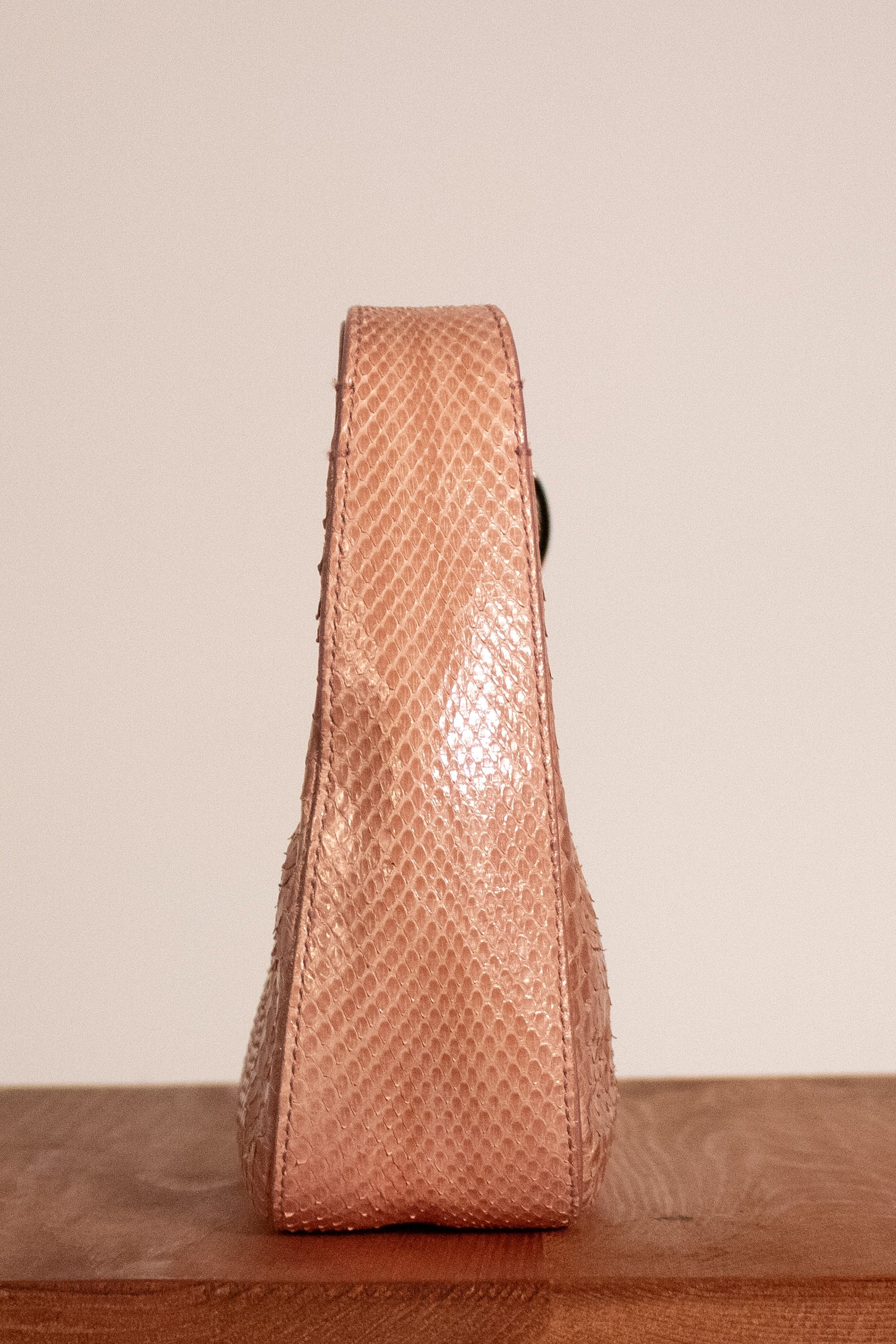 Gucci pale pink python mini bag