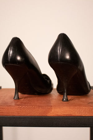 Christian Dior by John Galliano black leather pumps