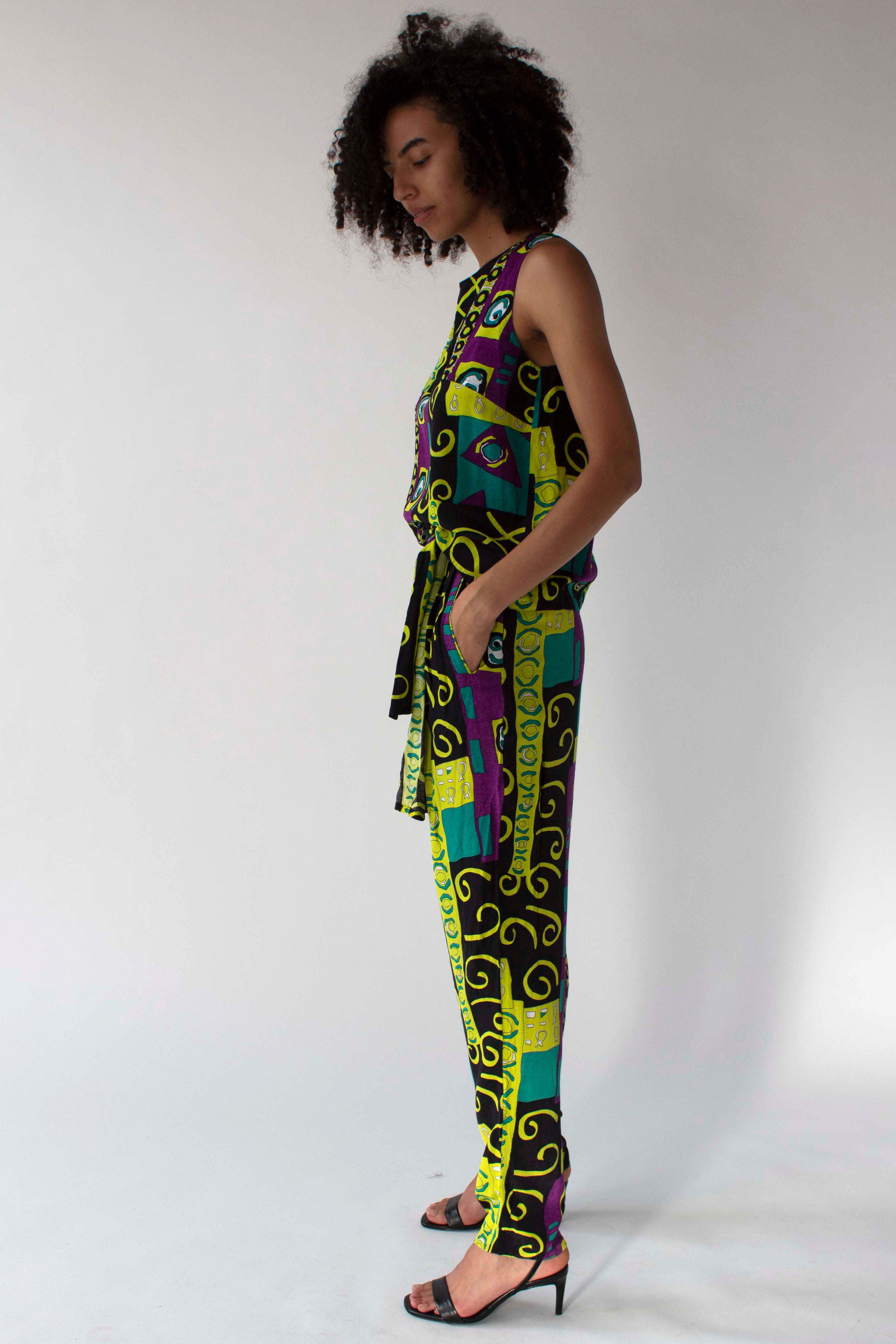 Karl Lagerfeld multicolor printed ensemble