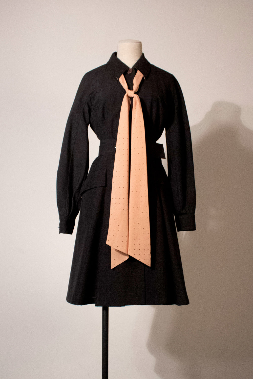 Christian Dior grey wool blend coat dress