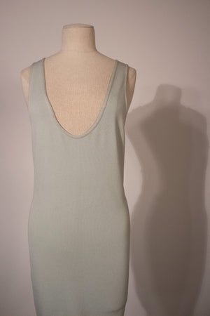 Alaia pastel green stretch cotton bodycon dress