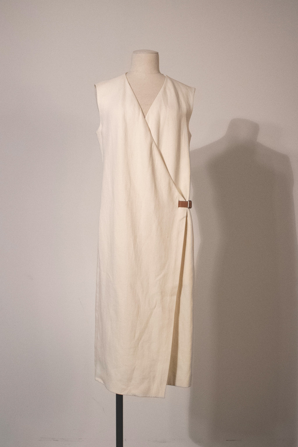 Margiela for Hermes linen wrap dress