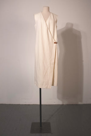Hermès by Martin Margiela linen wrap dress