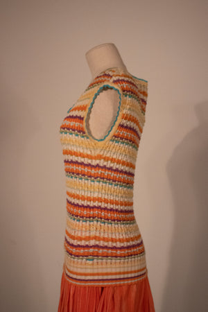Missoni multicolor striped lightweight knit tank