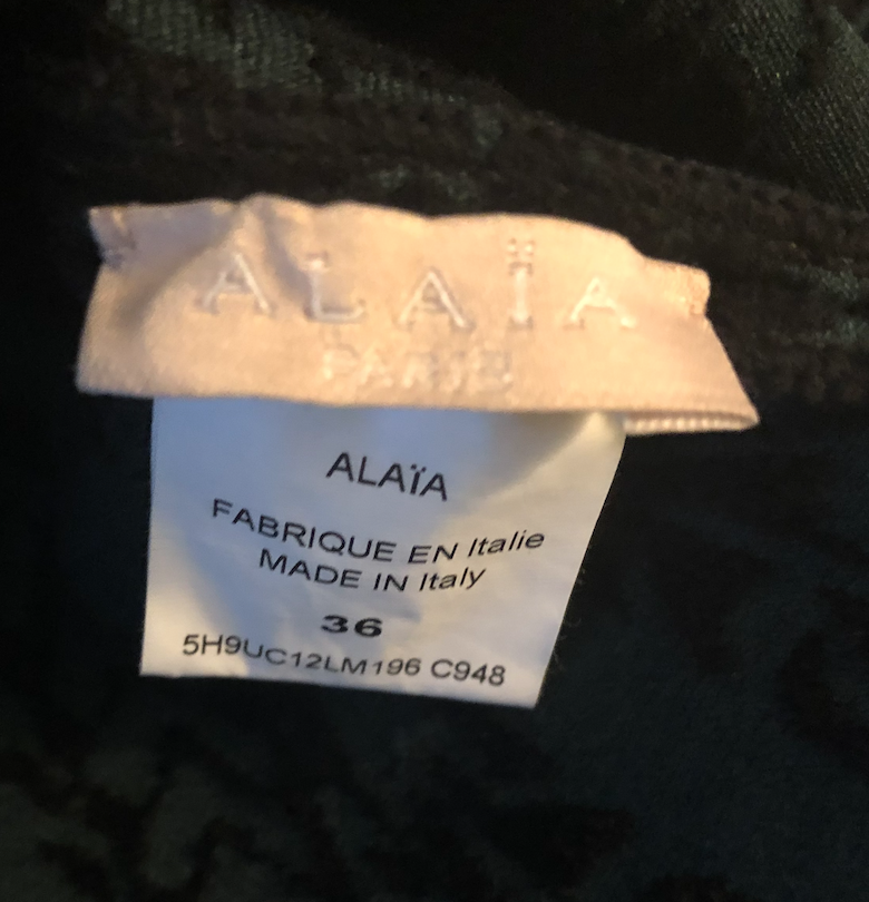 Alaia blue intarsia knit turtleneck