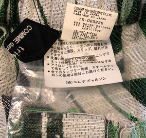 Comme des Garçons Tricot woven skirt with green details