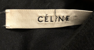 Celine black silk short sleeve dress