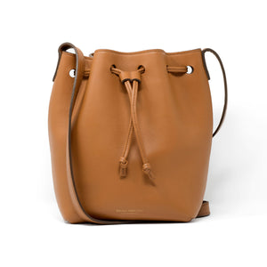 Gold Grain Taurillon Bedford Bucket Bag handmade by Bruna Andreoni